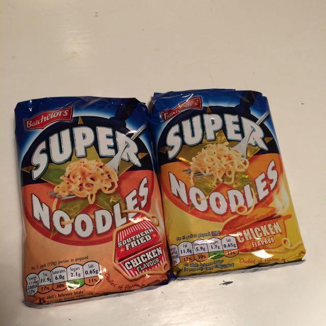 2 packs of noodles