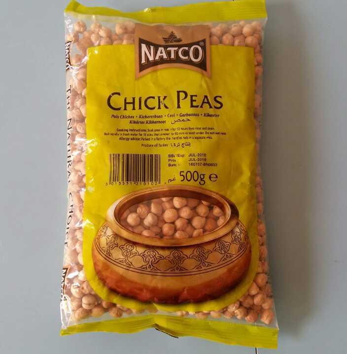 Chick peas, 500g, unopened