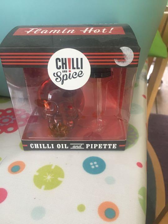 Chilli oil and pipette
