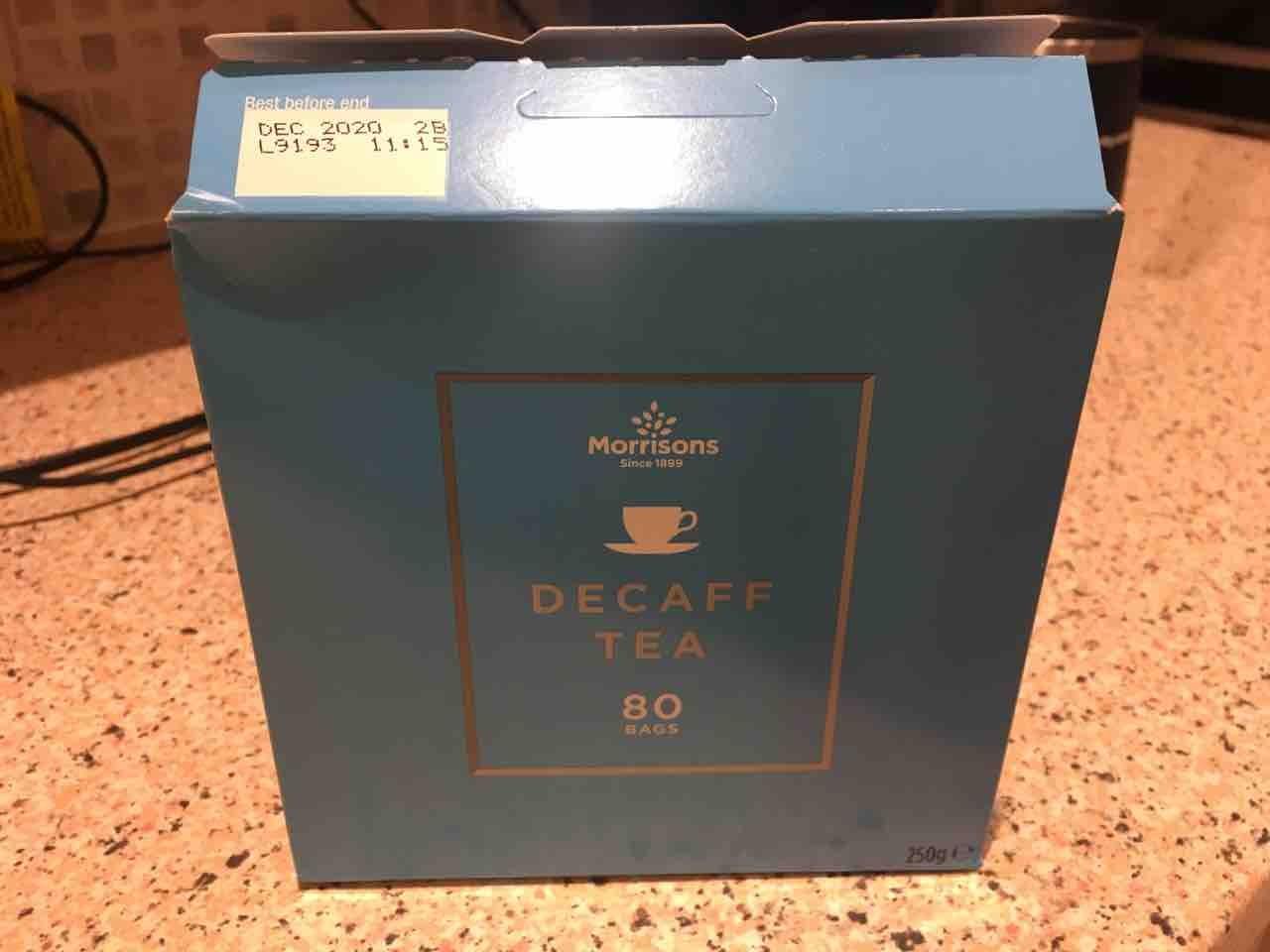 Decaff tea bags