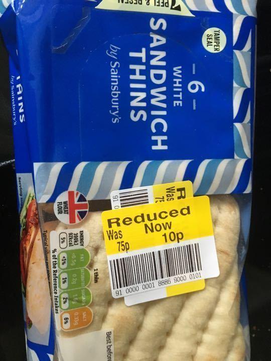 White sandwich thins 240 g