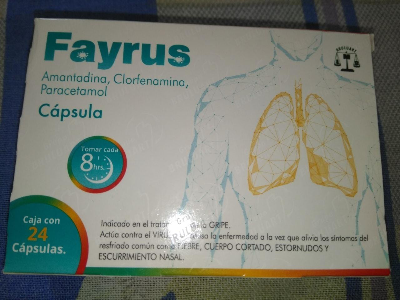 Fayrus (Amantadina, clorfenamina y paracetamol) #RegalaConOlio