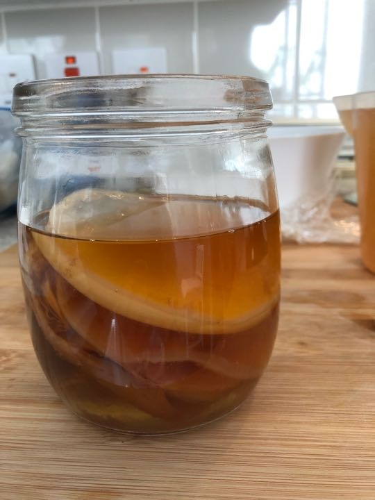 Organic and happy Kombucha SCOBY comes with 1 glass of fermented Tea