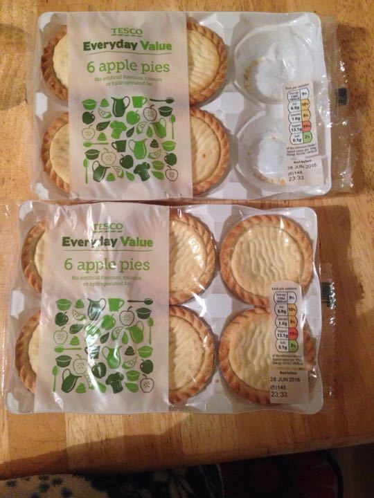 2 pack of tesco Appel pies