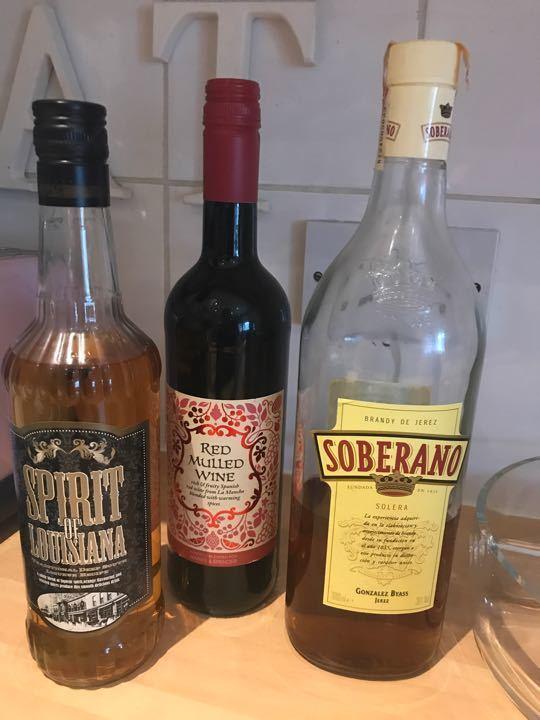 18+ (ID only) - new bottle mulled wine / soberano / spirit of Louisiana