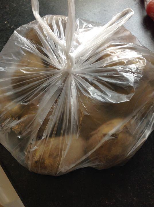 Bag of dark jersey Royal potatoes