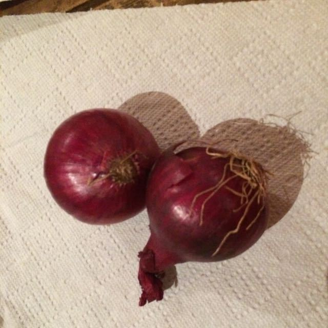 Couple red onions