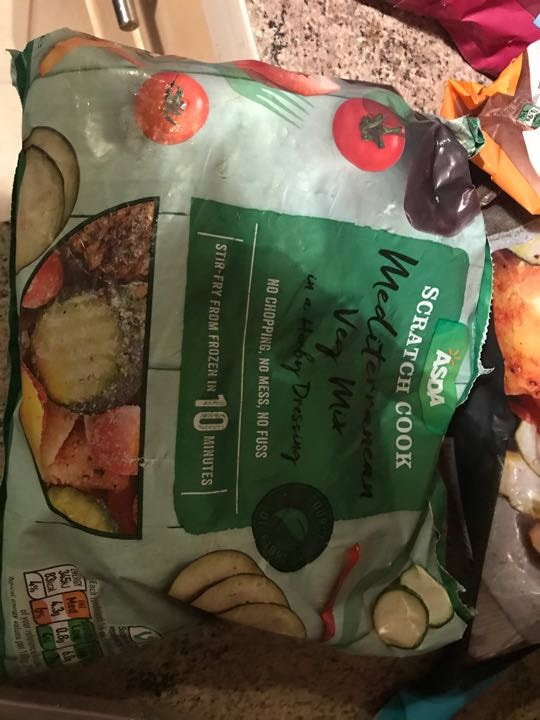 Mediterranean frozen veg mix