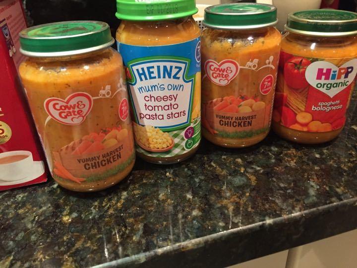 4 unopened jars of baby food