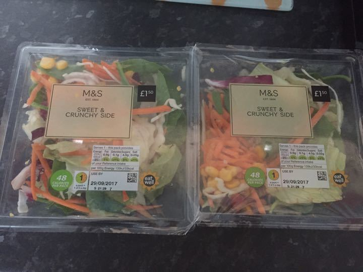 Sealed past use by date salad boxes