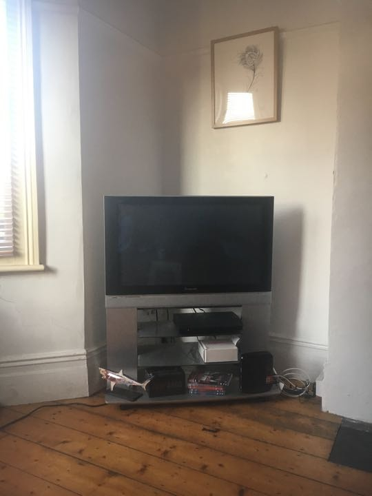 TV with built in stand