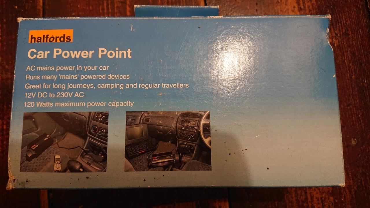 Halfords car power point