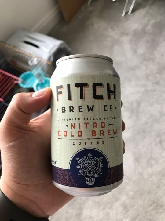3 cans of nitro cold brew coffee