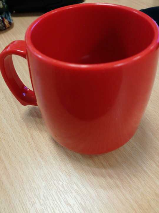 Sturdy red plastic cup