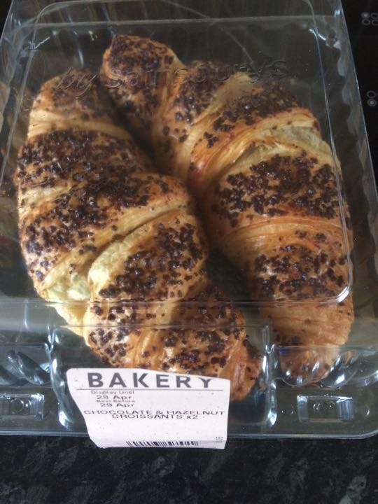 Choc hazelnut croissants (2 packs available)