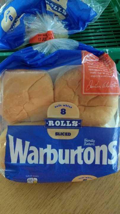 Warburton's slicd white bread rolls