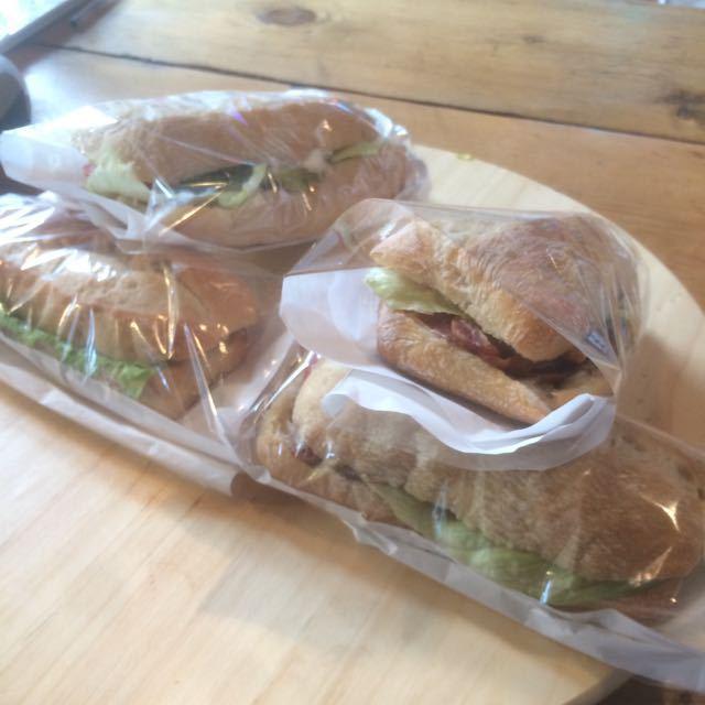 BLT & avocado sandwiches