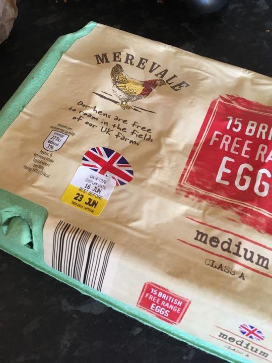 Free range eggs x6