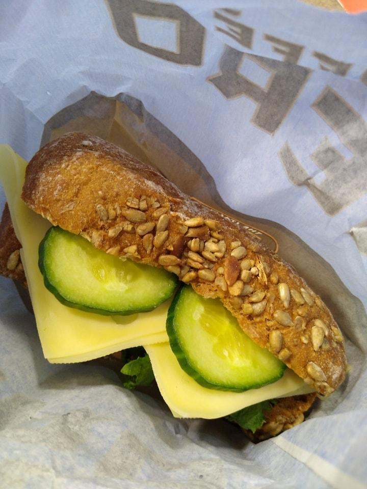1 x veggie, 1x han sandwich