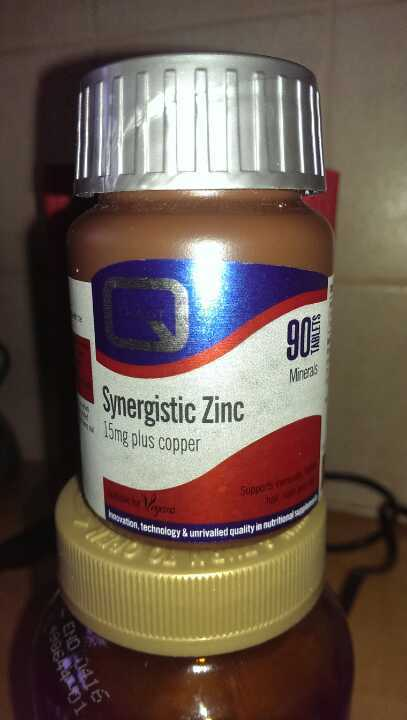 Quest brand synergistic zinc 15 mg plus copper