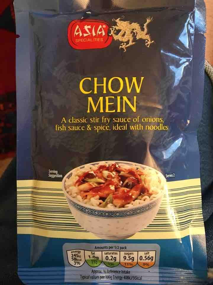 Chow mein stir fry sauce Aldi packet