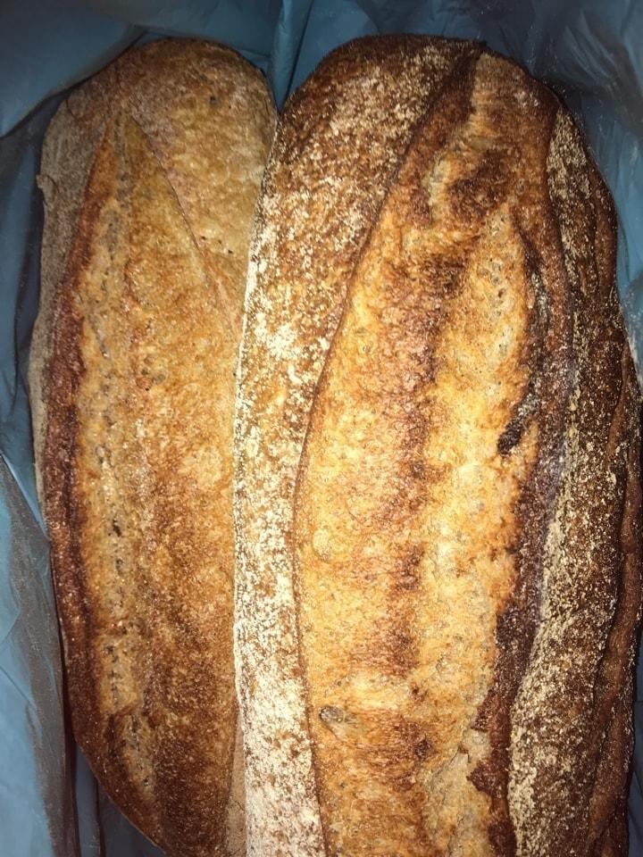 Fresh sourdough  bread from Brunkebergs bageri 14/3