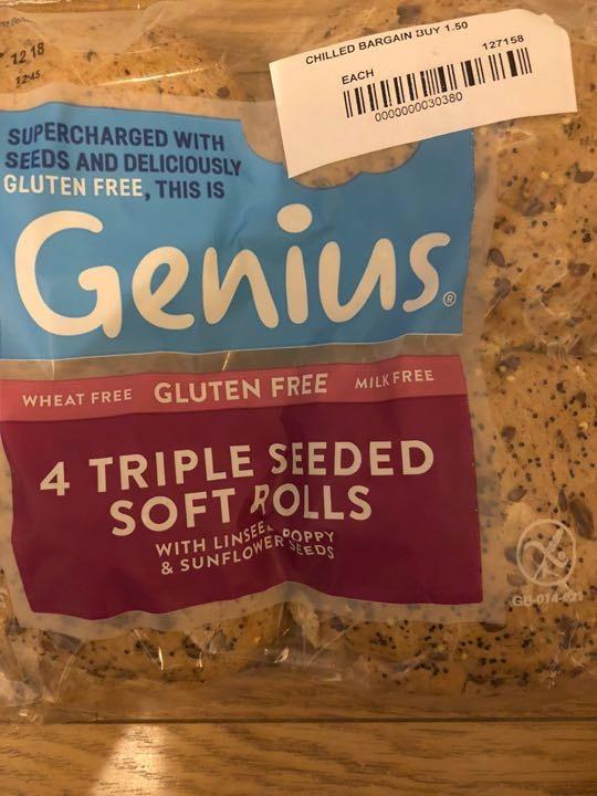 Triple seeded gluten free rolls