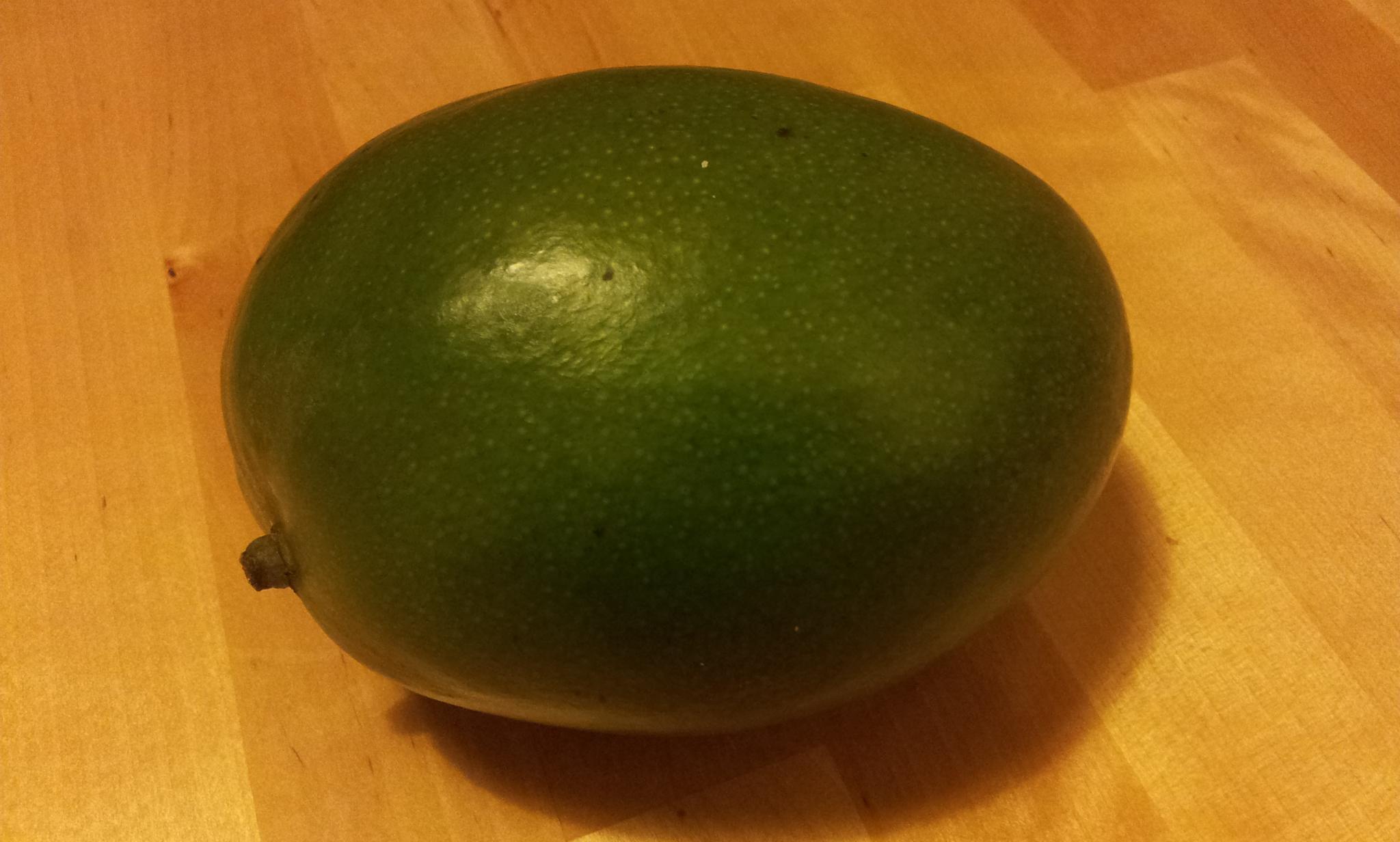 One ripe mango