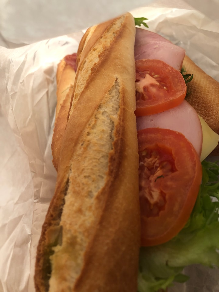 Fresh baguette from Caffe Nero 9/1