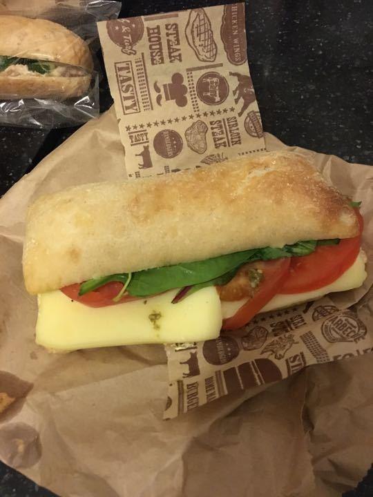 Cheese tomato ciabatta