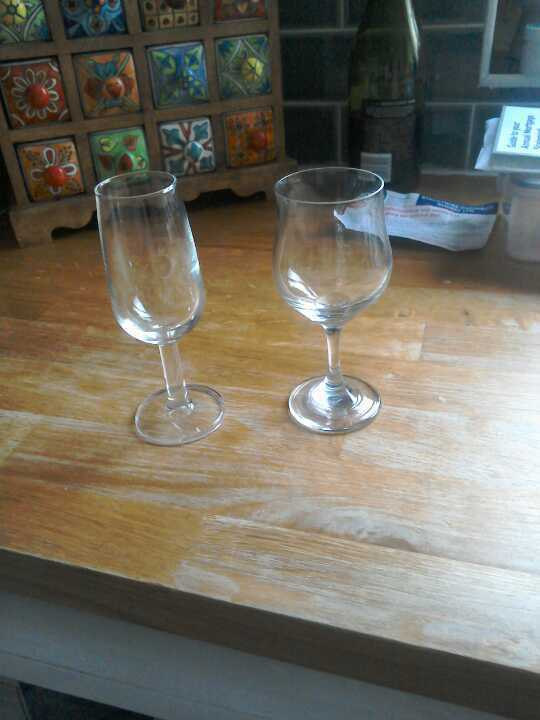 Sherry and port (?) Glasses