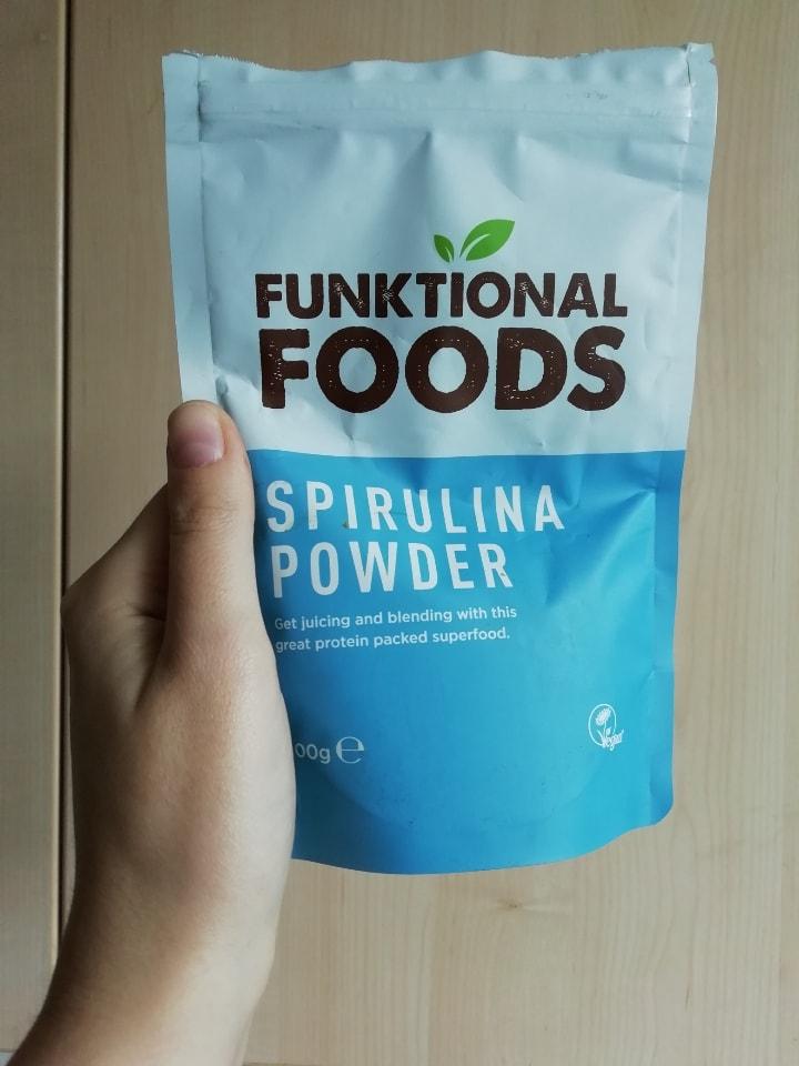 spirulina powder, open, around 400g left