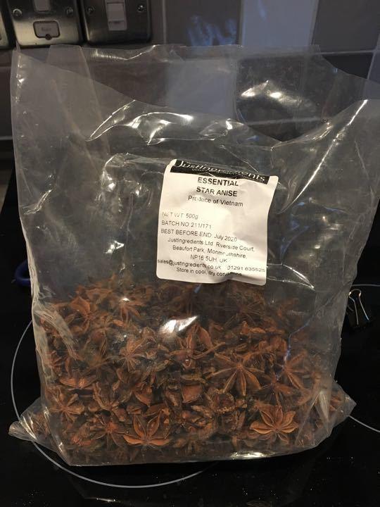 Star Anise 500g bag (less a handful)