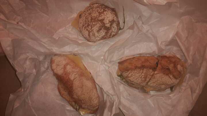 Cheese sandwiches × 3