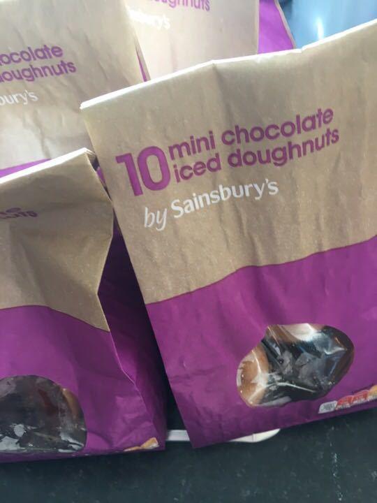 4 bags mini choc ring doughnuts