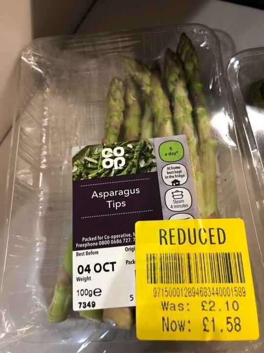 Asparagus tips
