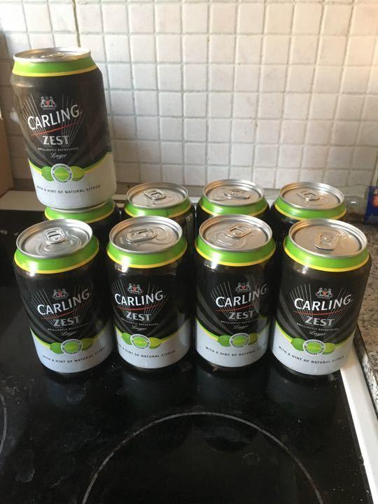 9 X carling zest