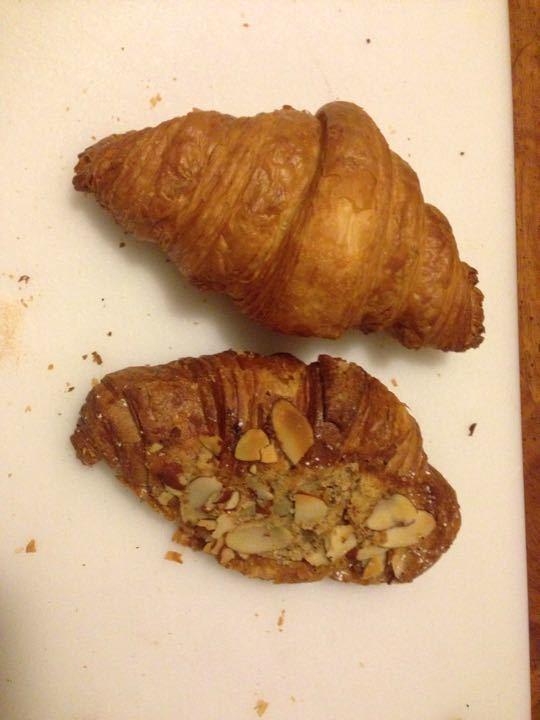 1 plain, 1 almond croisssant