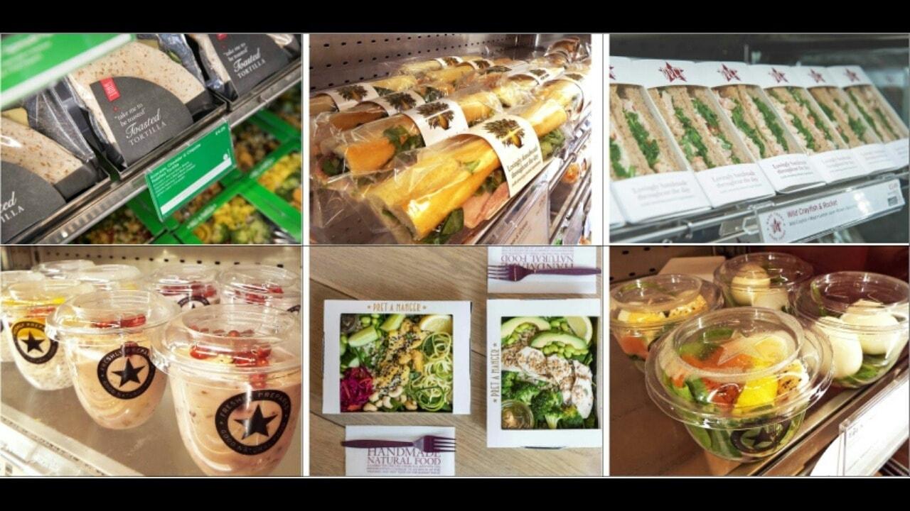 PRET A MANGER Fresh Sandwiches, Baguettes, Wraps, Salads - M16 0GA - Mon 12:30pm - 12:45pm