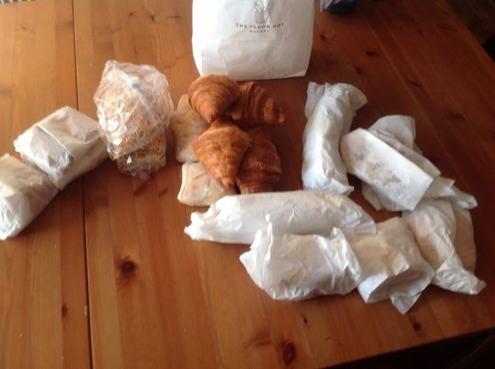 Bakery items from bakery pick up this evening