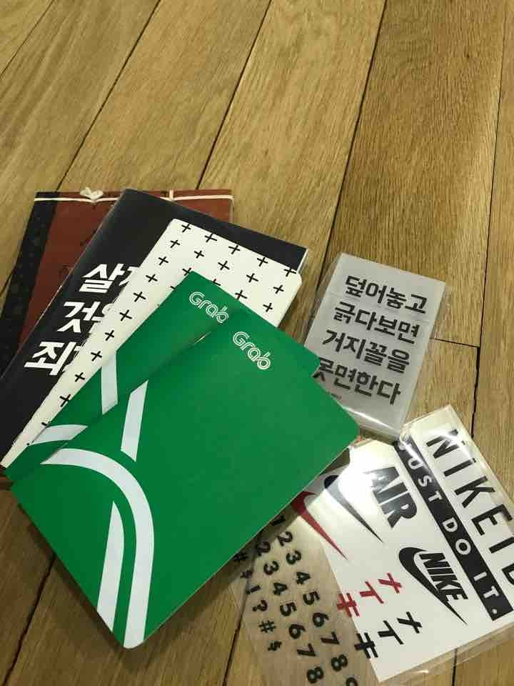 Notebooks and cardholder