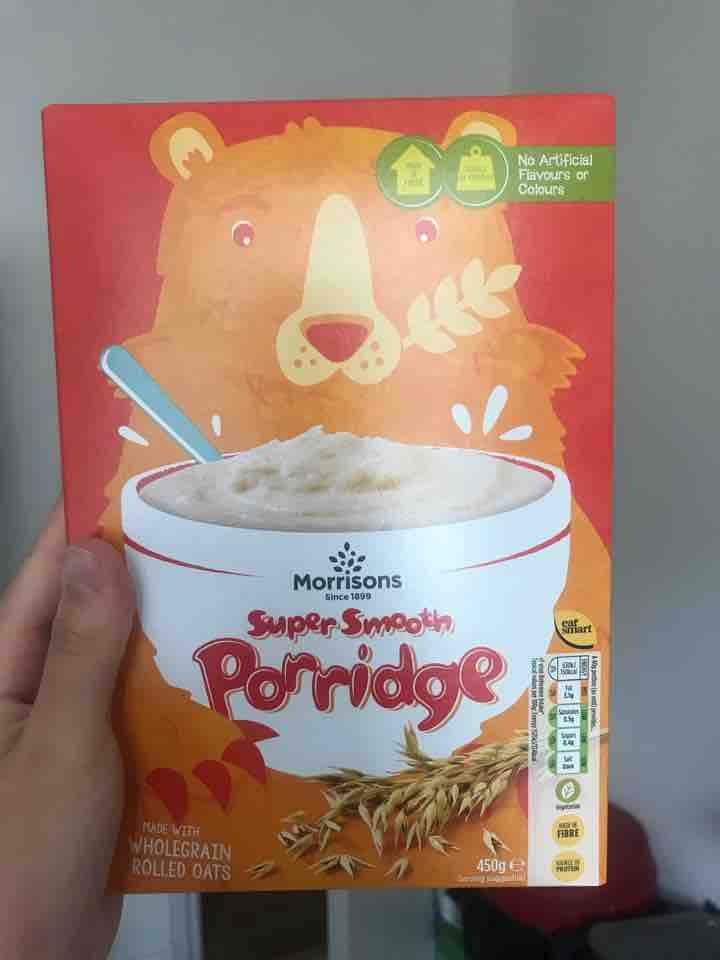 Morrisons super smooth porridge
