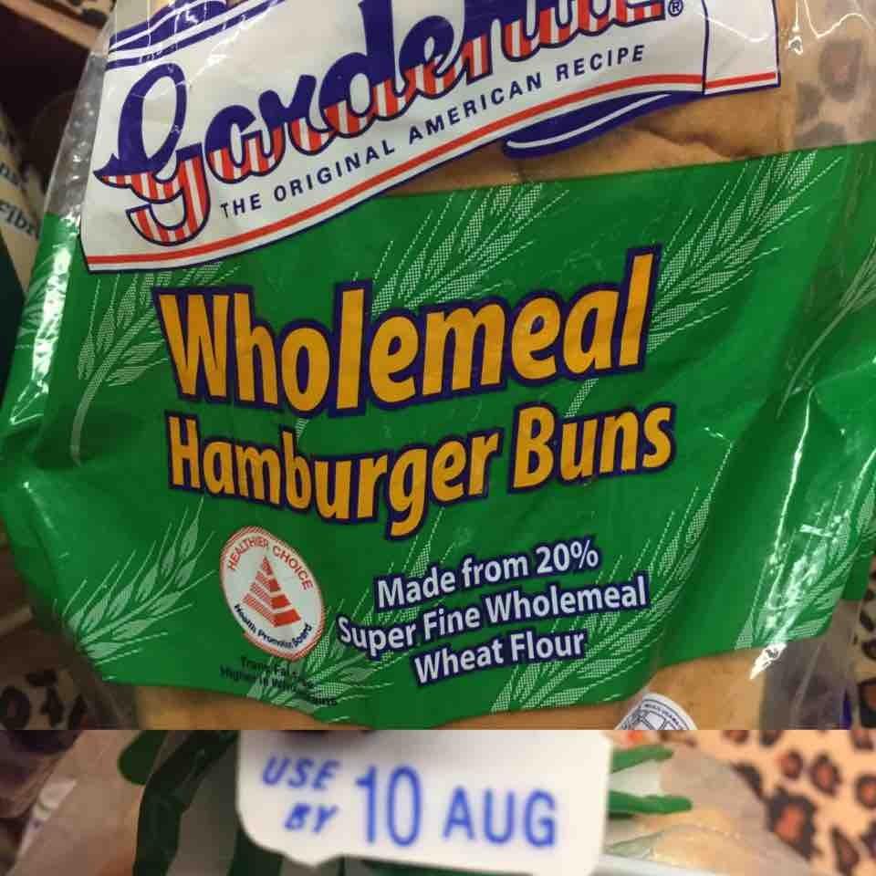 Gardenia Wholemeal Hamburger Buns