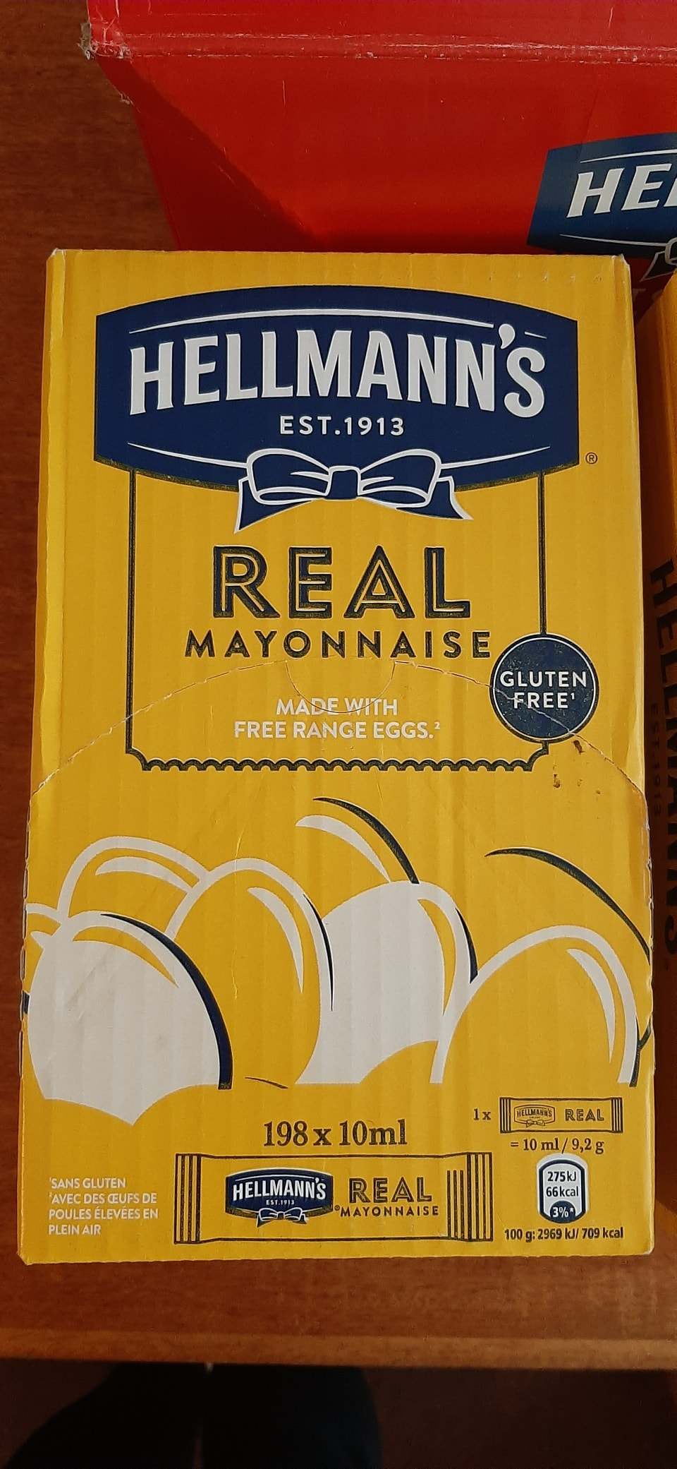 Hellmanns Mayonnaise sachets gluton free