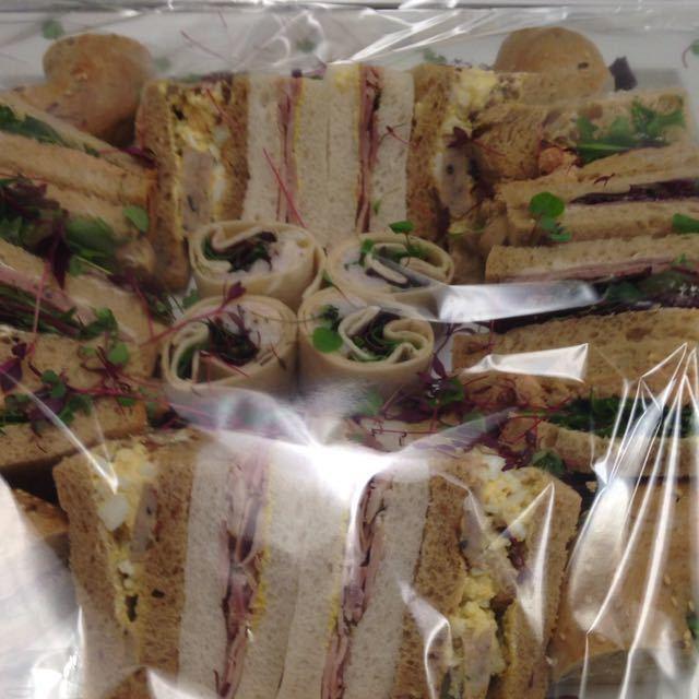 mixed fresh sandwiches