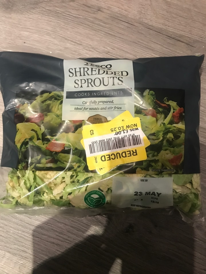 Shredded sprouts