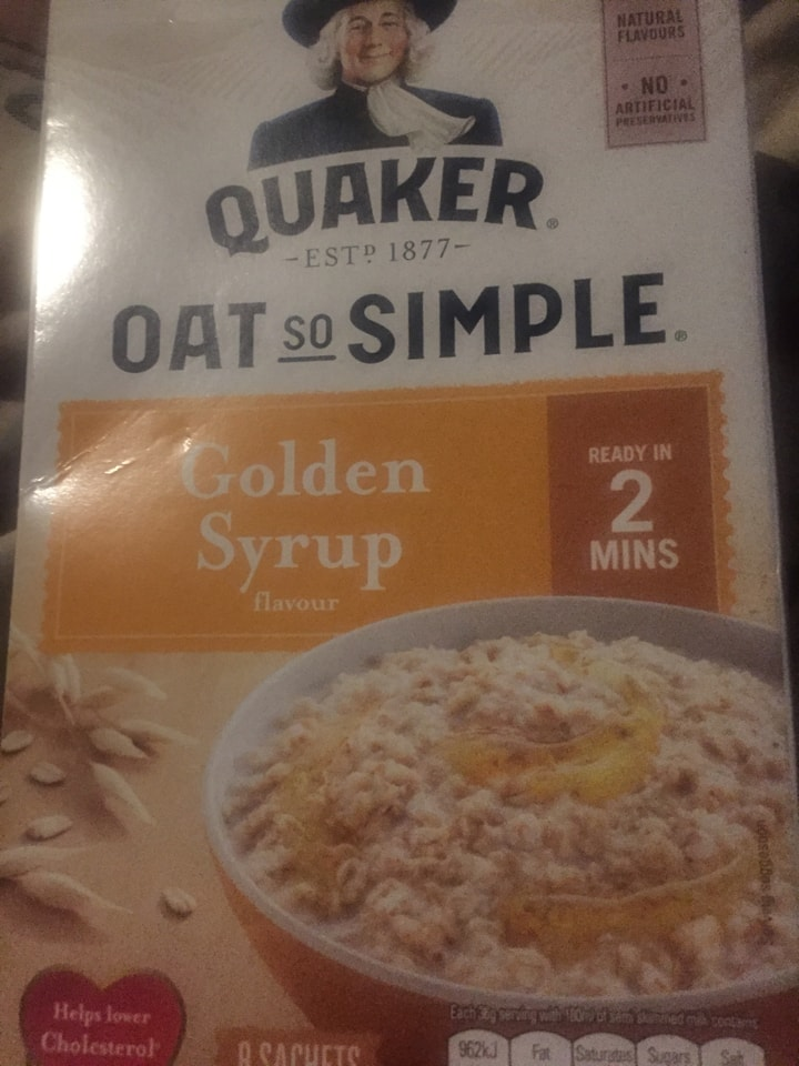 Oat so simple golden syrup