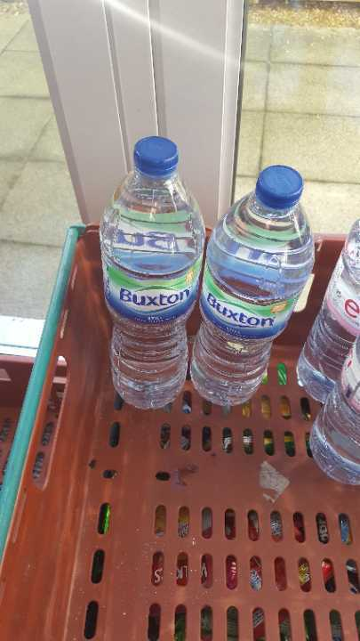 1.5ltr water x 2 bottles