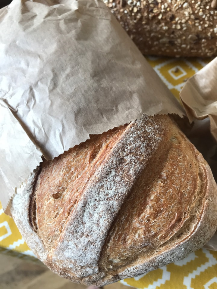 Bag 17: small loaf from artisan bakery