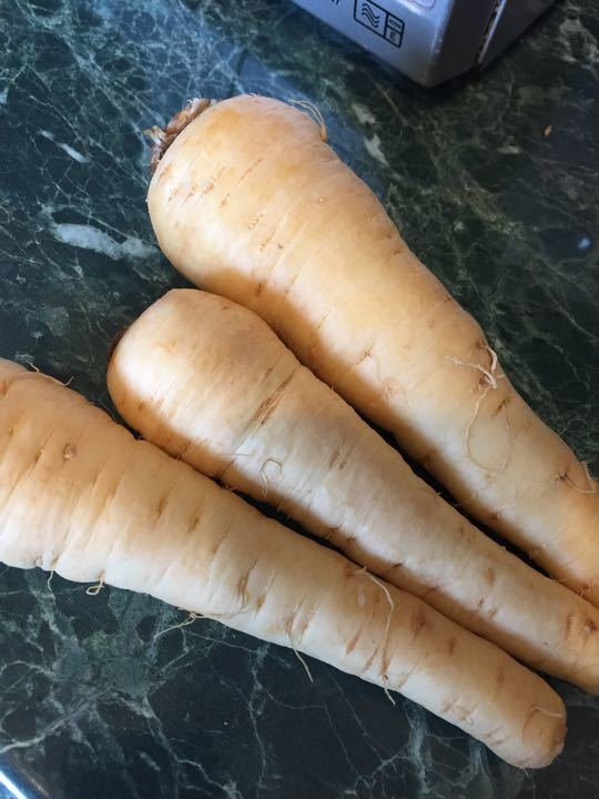 Parsnips From allotment